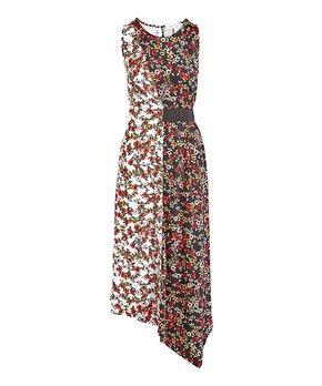 8e5004db4929b Derek Heart   Black Floral Color-Block Sleeveless Dress - Juniors