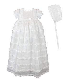 492584ca8 ... White Silk-Blend Sailor Christening Romper & Hat - I… all gone