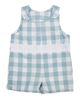 4f3fb7391 Caught Ya Lookin' | White & Blue Gingham Shortalls - Toddler. shop now