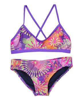 d436a8cca34 Waterpro | Purple & Pink Glee Bikini Top & Bottoms - Women