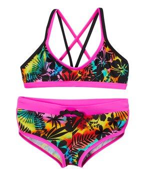 53cb51be720 Waterpro | Black & Pink Paradise Bikini Top & Bottoms - Women