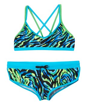 64d597c4870 Waterpro | Blue & Green Electra Bikini Top & Bottoms - Women