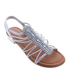 b3b136d139 Liliana Footwear | Silver Embellished Binny Sandal - Women
