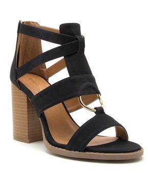 46818de76b Qupid | Black Brammer Gladiator Sandal - Women