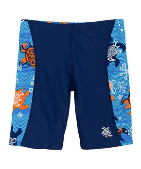 49677f81210 Tuga Sunwear | Blue Roller Turtle Swim Shorts - Toddler & Boys