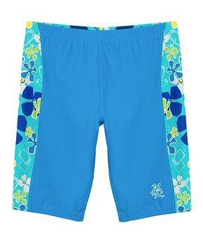 e14e566bf1bc1 Tuga Sunwear | Retro Ocean Floral Swim Shorts - Toddler & Girls