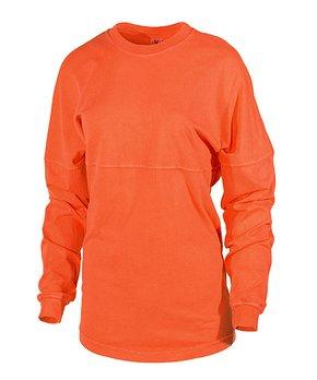 cd553794f Venley | Sunset Oversize Long-Sleeve Football Tee - Women