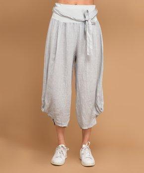 04262fa5d0a915 Vertigo | Gray Vegas Linen Gaucho Pants - Women