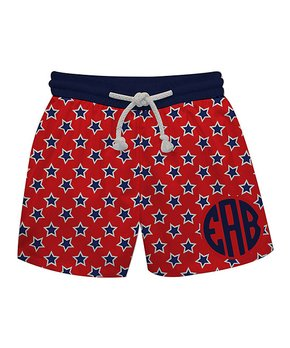 3bb8f58fec Monday's Child | Red Stars Monogram Swim Trunks - Infant, Toddler & B… shop  now