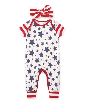 7ab296d43f24 blue red star stripe lace ruffle romper infant 74966 3841312.html ...