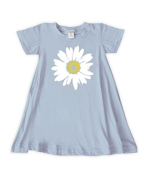 d0c00964582c Urban Smalls | Light Blue Giant Daisy T-Shirt Dress - Toddler & Girls