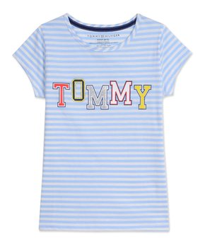 218842b60 Tommy Hilfiger | Chambray Blue Stripe 'Tommy' Tee - Girls