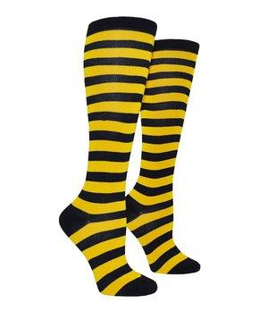 dc50fb969 Yellow   Black Rugby Stripe Socks - Women