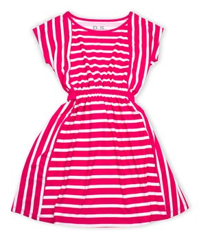 8fc4d6a7f69ba p.s. from Aéropostale | Pink & White Stripe Skater Dress - Girls