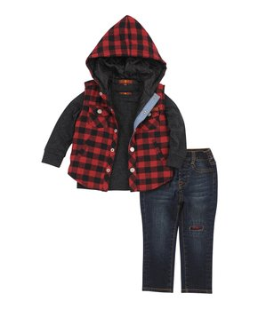 6563bcdef3a4f Highland Timber Boys Camo Orange Trim Ultra-Thermic Quilted Puffer Jacket  Jackets & Coats