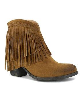 3a0da936f BEAST | Camel Fringe Georgia Ankle Boot - Women