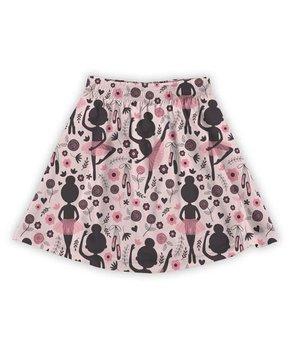 ee50673611a26 Urban Smalls | Black & Pink Ballerinas A-Line Skirt - Toddler & Girls