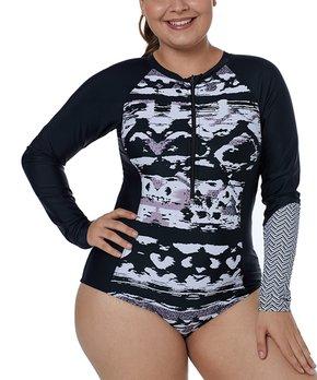 4a28ab855c Zesica | Black & Rose Seam Swim Capri Bottoms - Women. all gone