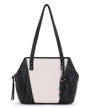 70799f32b The Sak | Black & White Paramount Leather Satchel