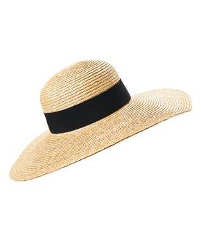 c8e276c6 Jeanne Simmons Accessories   Natural & Black Wide-Rim Sunhat