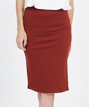 ff0ba2a872769b only 2 left. Fired Brick Ponte Pencil Skirt ...