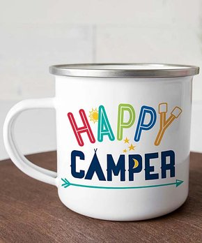 ff3fac30 Personalized Planet   White 'Happy Camper' Personalized Mug