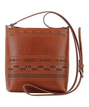 6875c7670 Most Wanted USA | Tan Octavia Tooled Leather Crossbody Bag