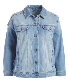eb06e4b03 Max Studio | Blue Distressed Kendall Denim Jacket - Women