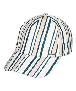 4bcee97c Roxy | Marshmallow & Navy Stripe Sun Is Shining Baseball Cap