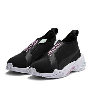 c7d787278bd915 PUMA | Black & Pale Pink Thunder TZ Sneaker - Women