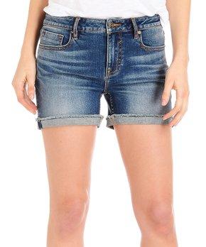 96323af5d9 Medium Wash Raw Edge Cuff Marley Shorts - Women & Plus