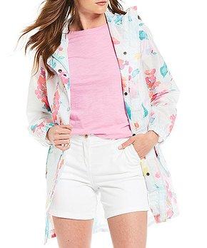 12fed6887dd55 Joules | Aqua & Rose Golightly Hooded Waterproof Zip-Up Jacket - Women