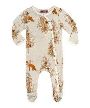 f0459071e7ca ... Organic Cotton Long-Sleeve Playsuit - Newbor… Milkbarn