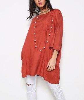5ba86246e95 red tunics | Zulily