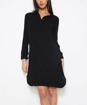 cb061d8474 Red Queen | Black Shirt Dress - Women