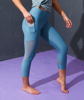 d0e141af6d44e Marika   Smoke Blue Dancer High-Waist Pocket Crop Leggings - Women
