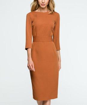 a78b876ff9e4 Stylove Clothing | Ginger Button-Down V-Back Sheath Dress - Women