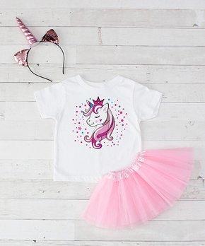cc09ae2a8 Dress Up Dreams Boutique | White & Pink Unicorn Princess Tutu Set - I…
