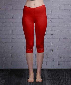 3fcaf8b84e95f Lily | Red Capri Leggings - Women