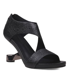 86a4ae5fc6 Jady Rose | Black Side-Strap Ghost-Heel Leather Pump - Women