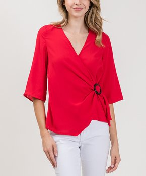 a847b1115b25 Women's Wrap Tops - Save Up to 70% on Wrap Tops for Women | Zulily