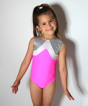 92fdeb2709ca D&M Leotards | Pink & Silver Sparkle Leotard