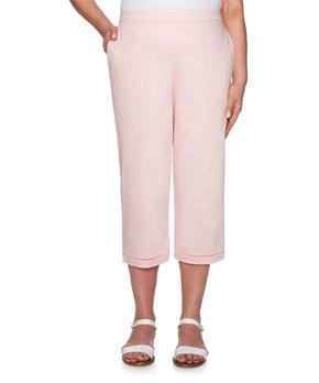 4f528efa9c0c5 Alfred Dunner | Dusty Rose Side-Pocket Capri Pants - Women & Plus