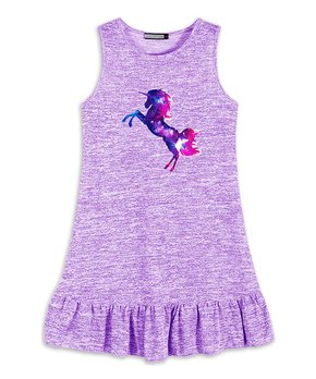 e1a8f40122f pink purple unicorn ruffle tutu dress infant toddler girls 274758 ...