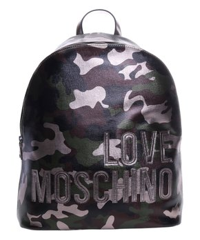 82a38a386 Love Moschino   Gray Camouflage 'Love Moschino' Leather Backpack