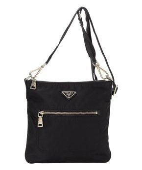 f07314c7774b Prada Pre-Owned Black Tessuto Nylon Crossbody Bag | Zulily