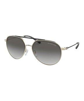 1e457d3b7ff6 Michael Kors   Shiny Pale Gold & Gray Gradient Contrast-Bridge Aviato… shop  now. 5 viewing · Coach   Goldtone & Brown Signature-Arm Aviator Sunglasses