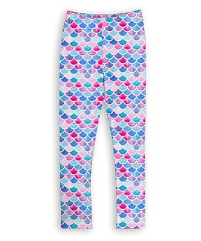 e5383ed5e4d0c Urban Smalls | Pink & Purple Scales Leggings - Toddler & Girls. shop now