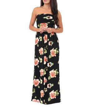 71c156271a ... Floral Ruched-Front Strapless Maxi Dress - Women. all gone