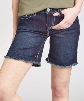 c70fde4f9 True Religion | Blue Lonestar Ragged-Hem Jayde Denim Shorts - Women